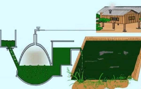 Принцип добычи биогаза