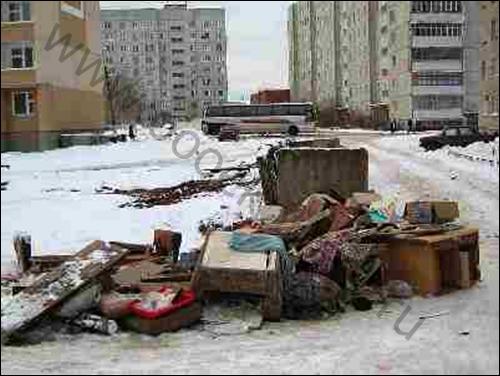 вывоз крупногабаритного мусора в Москве