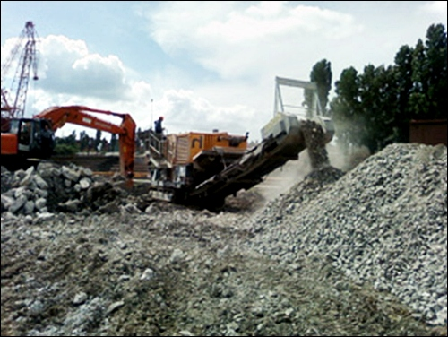 Производство вторичного бетонного щебеня