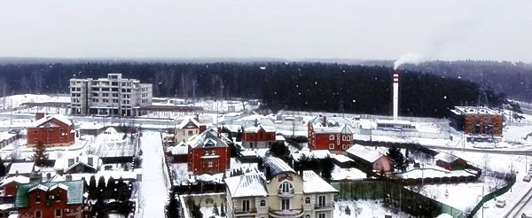 город Апрелевка снег зима