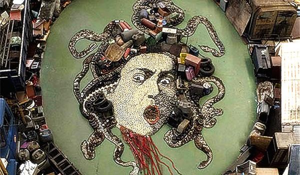 Мозаика из мусора