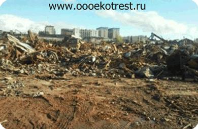 Несанкционированная свалка в САО Москвы