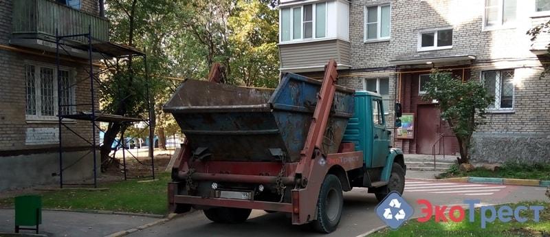 Вывоз мусора в Лобне контейнером 8 м3