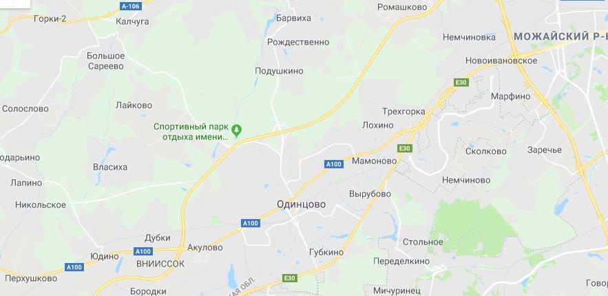 Карта района Одинцово