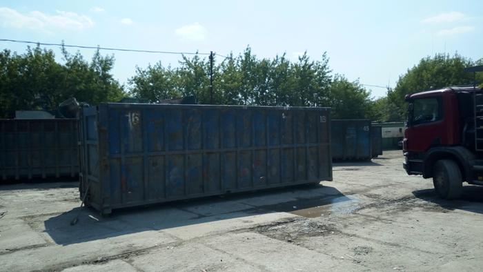 Мусорный контейнер 27 м3 на сортировочном пункте