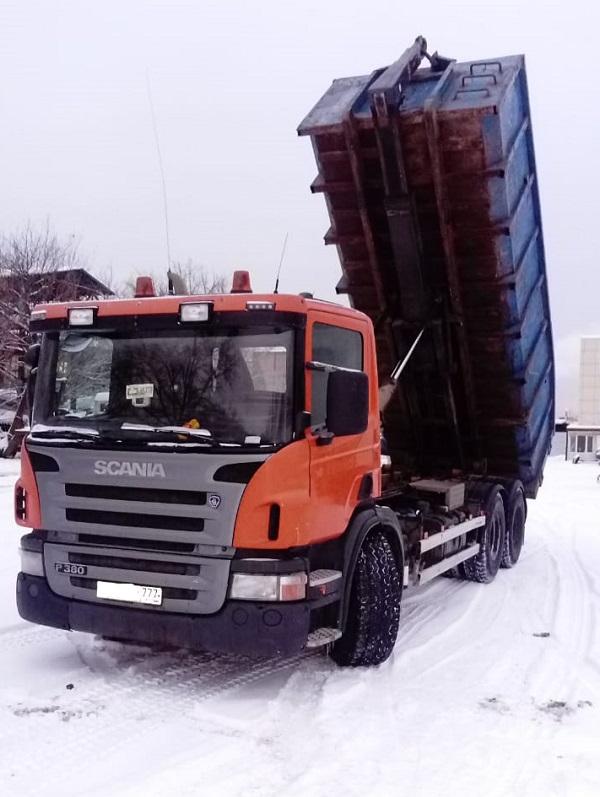 Вывоз мусора в Троицке мультилифт 20 м3