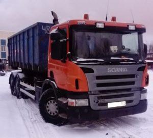 Вывоз снега автомобилями Скания